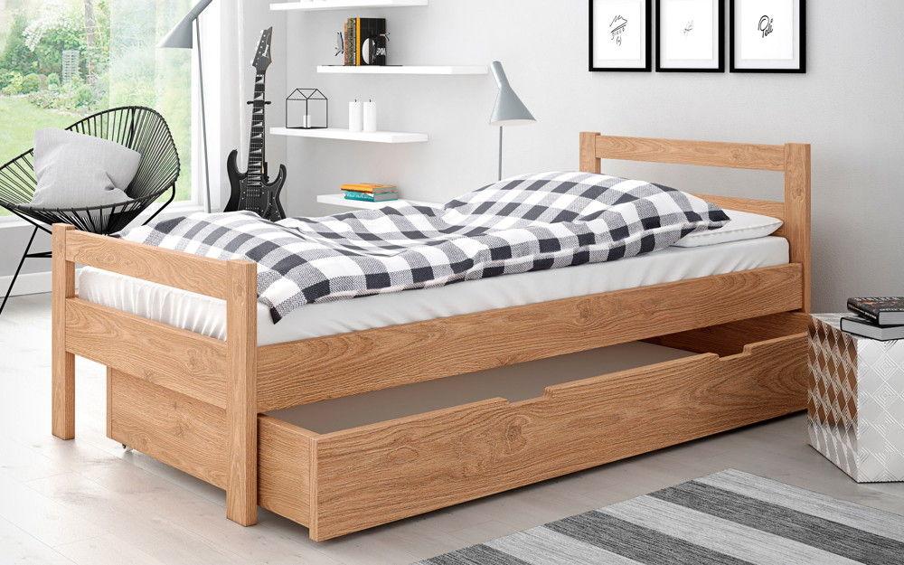 łóżko Slim łóżka Drewniane
