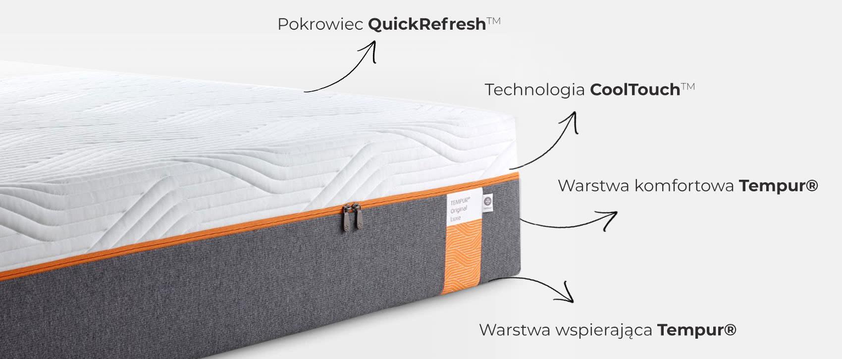 materac tempur original luxe