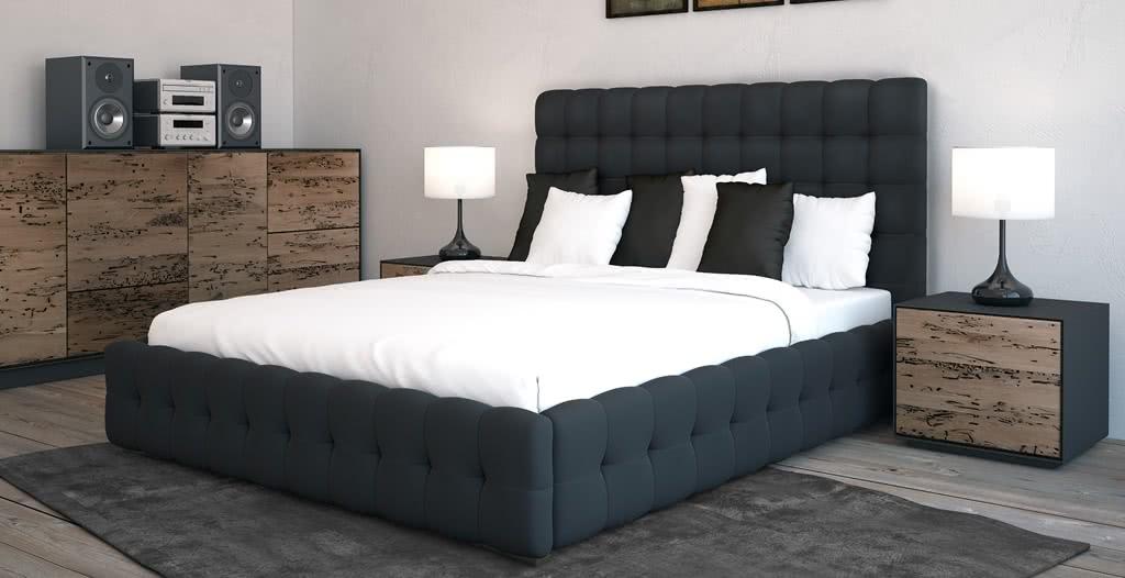 łóżko tapicerowane bravo plus senpo