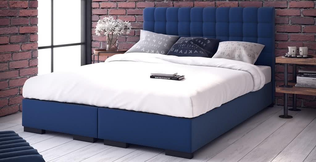 łóżko tapicerowane bravo kontynentalne senpo