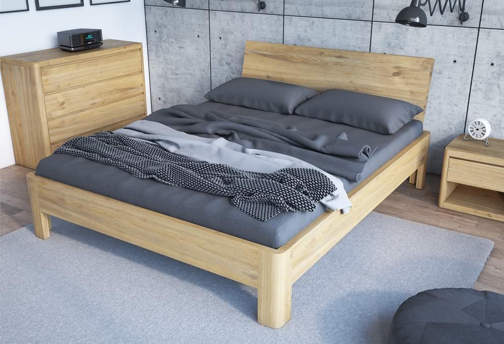 łóżko drewniane lago senpo