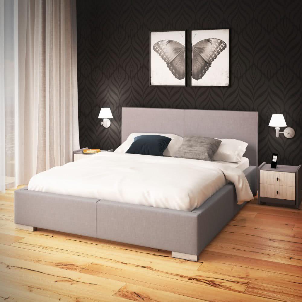łóżko tapicerowane london senpo