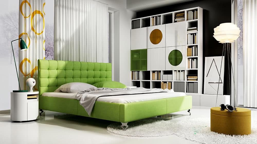 łóżko tapicerowane medison new design