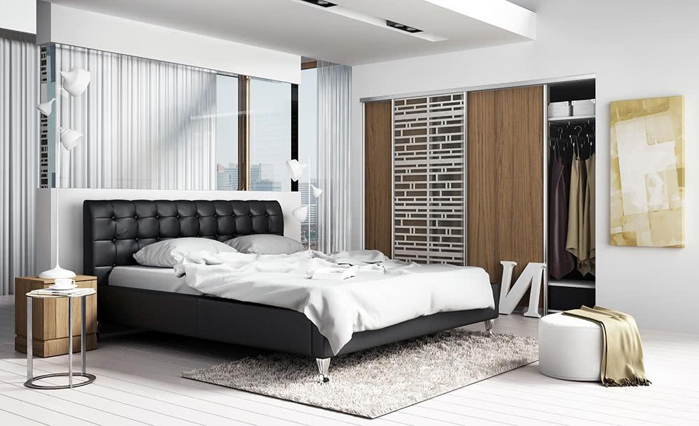 łóżko tapicerowane medison luz new design