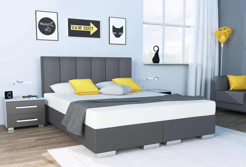 łóżko tapicerowane kontynentalne oxford senpo