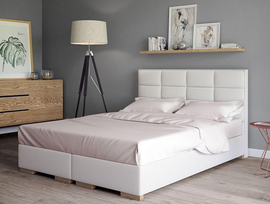 łóżko tapicerowane kontynentalne ferera senpo