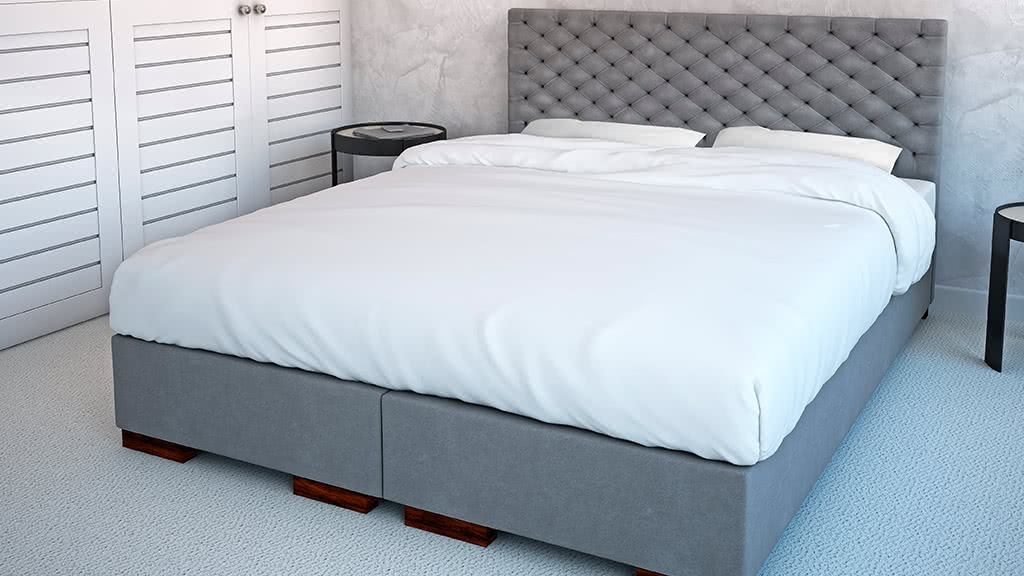łóżko tapicerowane kontynentalne porto senpo