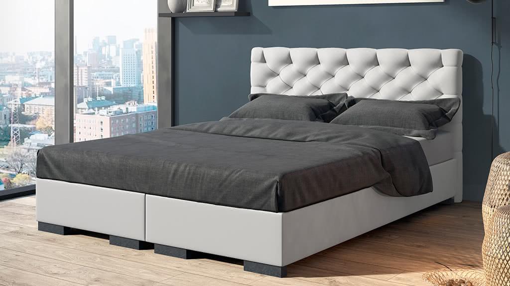 łóżko tapicerowane kontynentalne prestige senpo