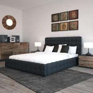 Łóżko tapicerowane Bravo Plus Senpo ciemne