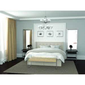 Łóżko tapicerowane Glamour Hilding kontynentalne