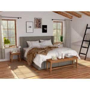 Łóżko tapicerowane Vintage Hilding kontynentalne