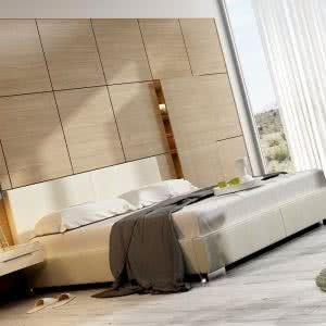 Łóżko tapicerowane Classic New Design jasne