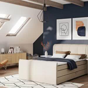 Łóżko tapicerowane Eveline New Design jasne