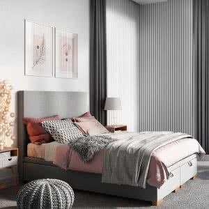 Łóżko tapicerowane Kantana Senpo jasne