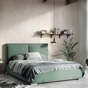 Łóżko tapicerowane Magnolia Senpo zielone