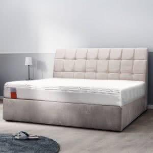 Łóżko tapicerowane Trunk Tempur kontynentalne jasne